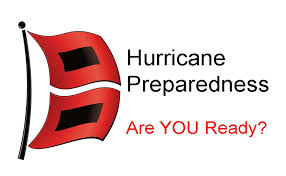 hurricane preparedness with flag