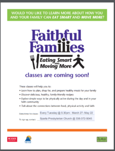Cover photo for Faithful Families: Eating Smart and Moving More