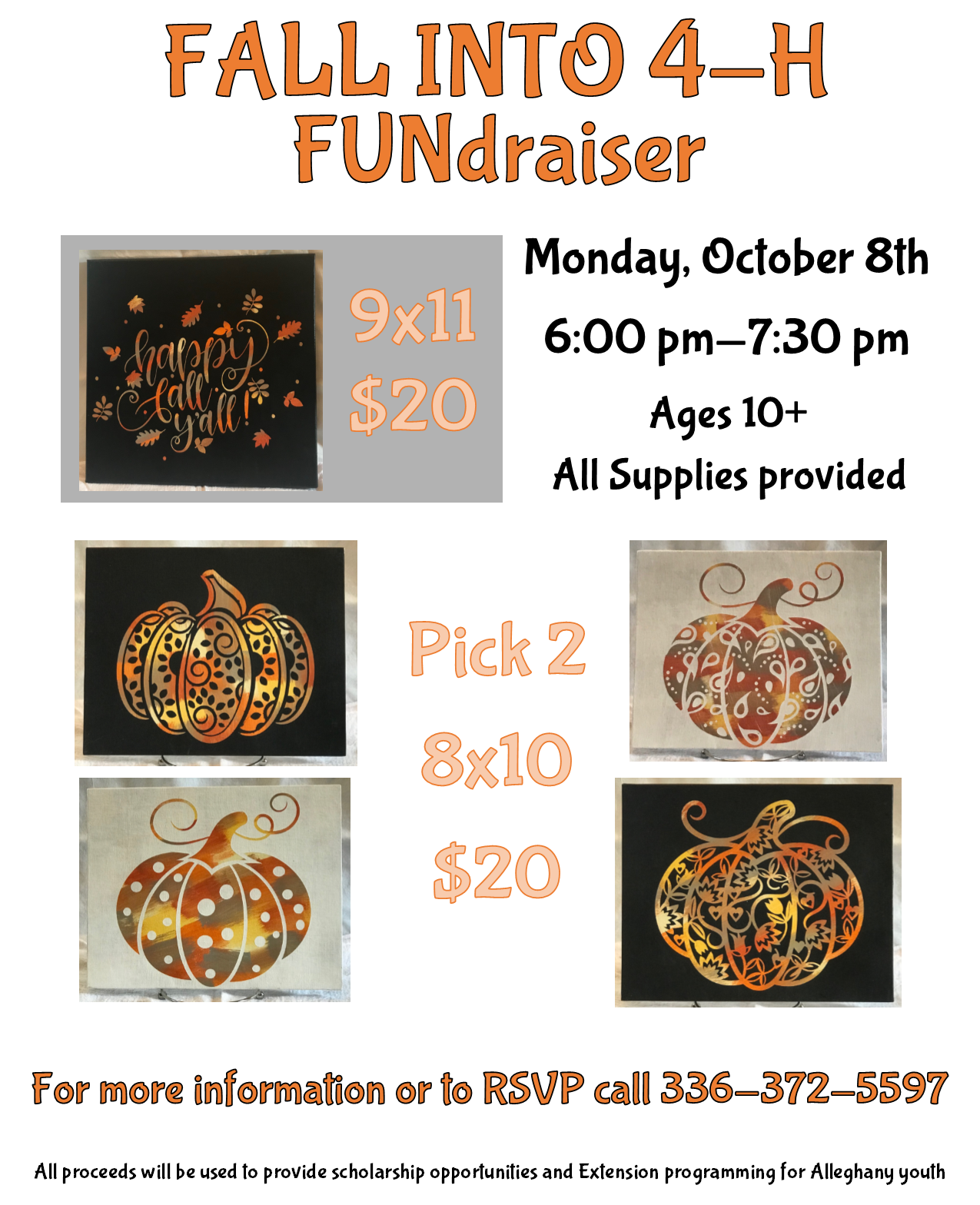Fall Into 4-H FUNdraiser flyer image