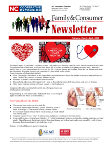 Cover photo for Family and Consumer Science Newsletter