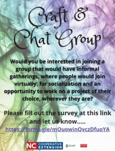 Cover photo for Craft & Chat Group Interest Survey